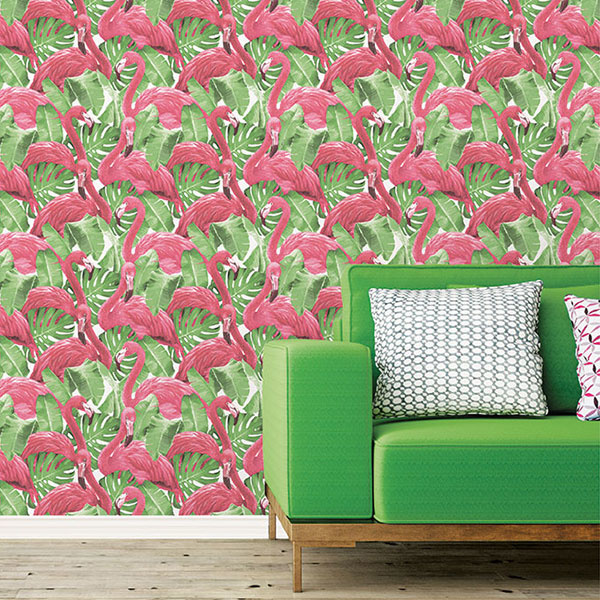 Noordwand Global Fusion Flamingo's behang G56406