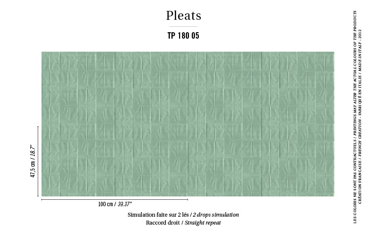 Élitis Pleats behang Arts & Craft TP 18005