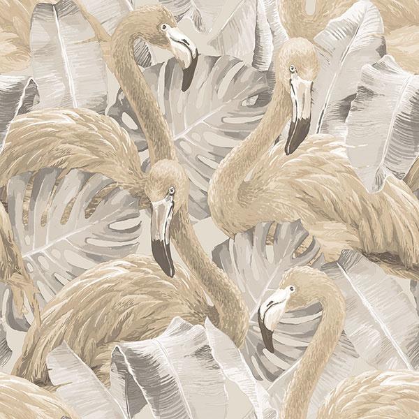 Noordwand Global Fusion Flamingo's behang G56404