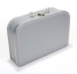 Koffertje zilver 30 cm