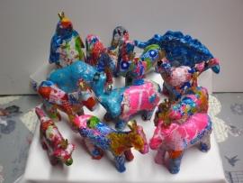 Workshop/kinderpartijtje beestjes paard, hond, koe, varken, beertje naar keuzen decopatch.