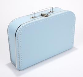 Koffertje licht blauw 30 cm