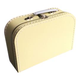 koffertje licht geel 25 cm