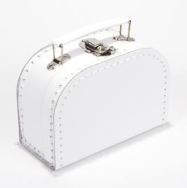 Koffertje wit 16 cm.
