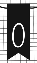 klein kaartje met letter O