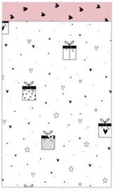 Zakje met hartjes/cadeautjes 12 bij 19 cm