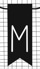 klein kaartje met letter M