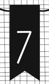 klein kaartje met cijfer 7