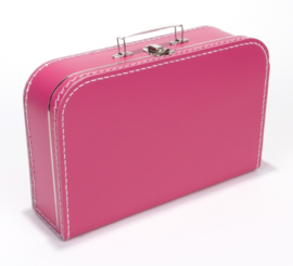 koffer fuchia 35 cm.