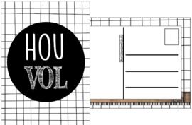 42.kaart met tekst'' Hou Vol''.