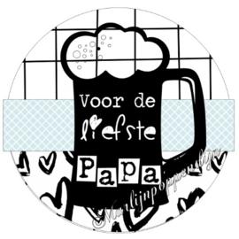 Button opener met tekst ''Voor de liefste Papa''56 mm