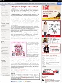 42.Interview online op de telegraaf site.