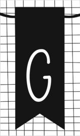 klein kaartje met letter G