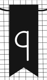 klein kaartje met cijfer 9