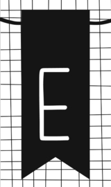 klein kaartje met letter E