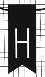 klein kaartje met letter H