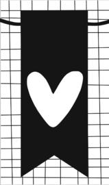 klein kaartje met afbeelding hartje