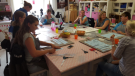 Workshop tekstbord maken met lunch.