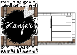 32.Kaart met tekst ''Kanjer''.