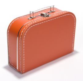 Koffertje oranje 25 cm