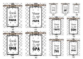 Set kaarten 11 stuks met verschillende teksten voor de leukste.......