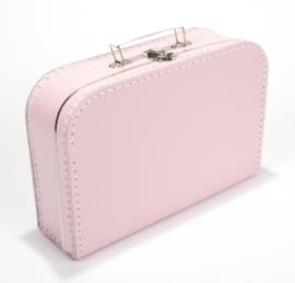 Koffertje baby roze 30 cm