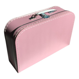 Koffertje roze 30 cm.