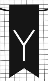 klein kaartje met letter Y