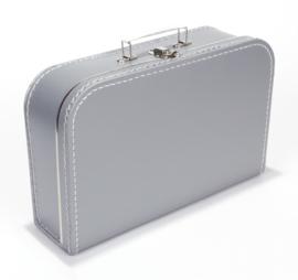 Koffer zilver 35 cm