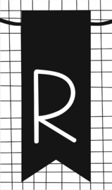 klein kaartje met letter R
