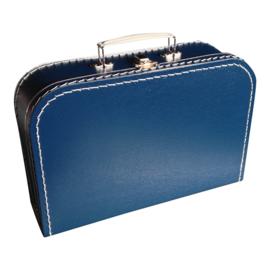Koffertje donker blauw 30 cm