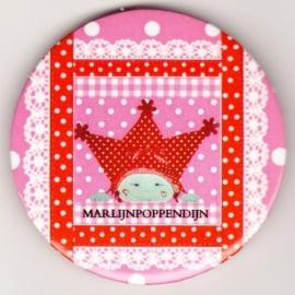 3.Button meisje spiegeltje 5,5 cmm