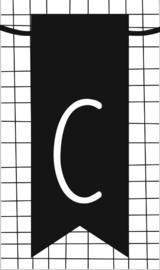 klein kaartje met letter C