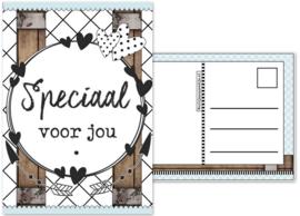 35.Kaart met tekst ''Speciaal voor jou''.