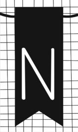 klein kaartje met letter N