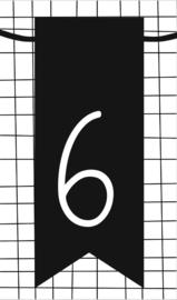 klein kaartje met cijfer 6