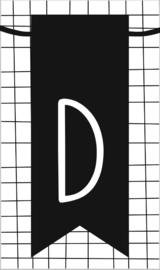klein kaartje met letter D