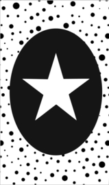 klein kaartje met afbeelding ster.