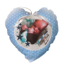 Stoffe hart met foto afbeelding.