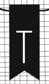 klein kaartje met letter T