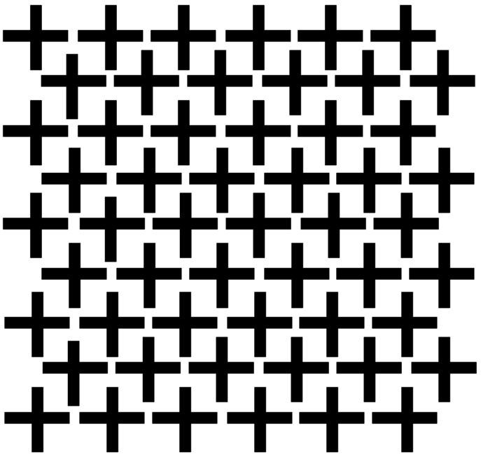 Muurstickers, om je witte muur met kruisjes te beplakken doorsnee 4 cm 54 stuks kleur zwart.