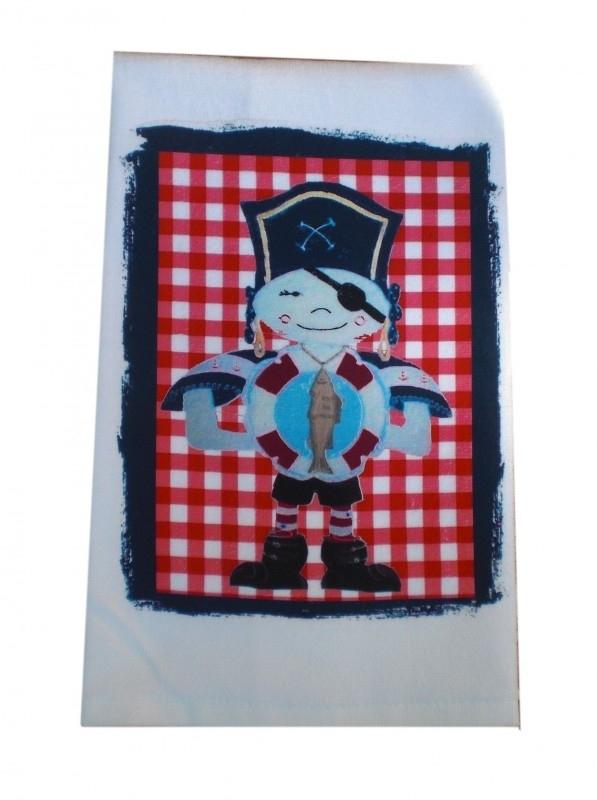 Handdoek 50 bij 100 jongen piraat met boei.