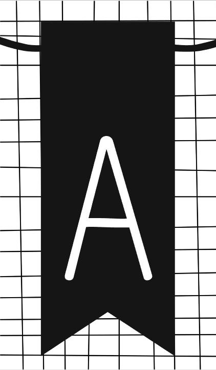 klein kaartje met letter A