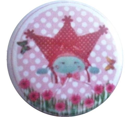Button Marlijnpoppendijn gezichtje.