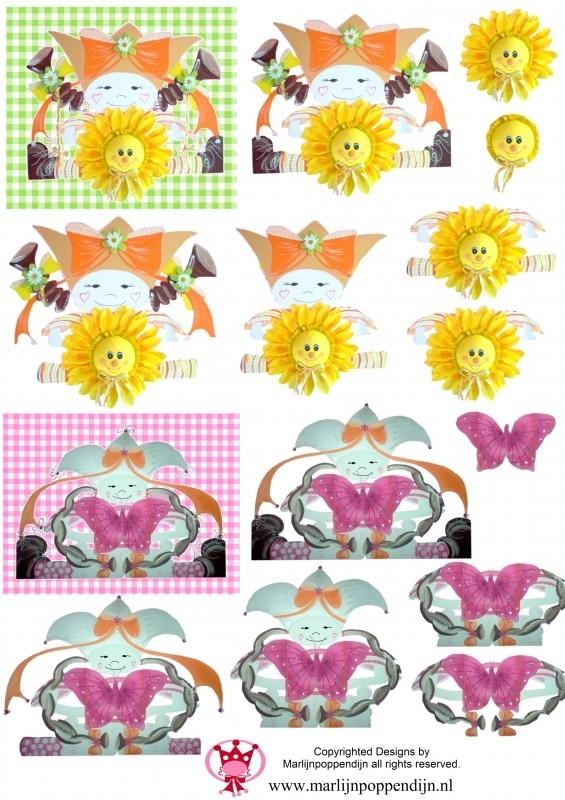 0.4 Knipvellen Marlijnpoppendijn zonnebloem vlinder.