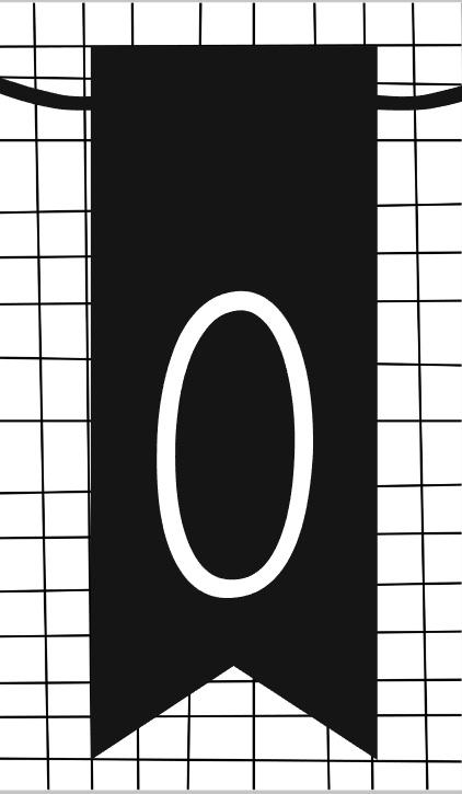 klein kaartje met cijfer 0