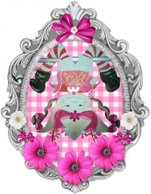 Applicatie Marlijnpoppendijn  full color ongeveer  16cm hoog 12cm breed.