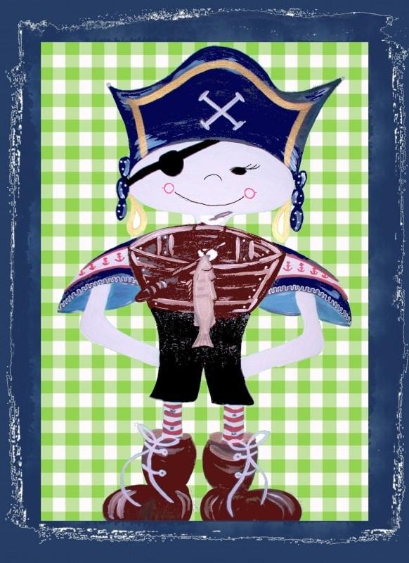 Piraat met bootje.