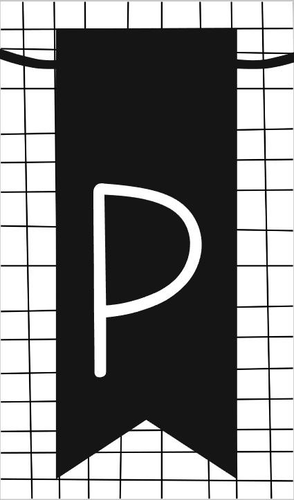 klein kaartje met letter P