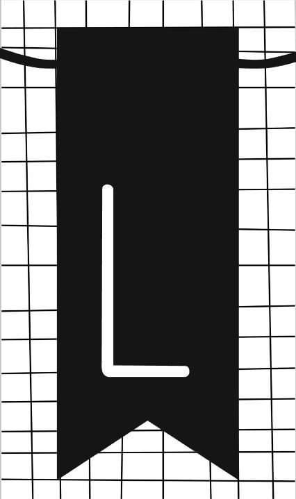 klein kaartje met letter L